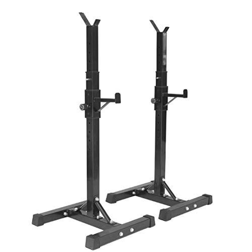 AKT Einstellbar Langhantelständer Squat Rack 11 x Höhenverstellung Bodybuilding Gym Gewichtheben Unterstützung Geteilte Gewichtshalterung Laden Sie 200 kg, Schwarz