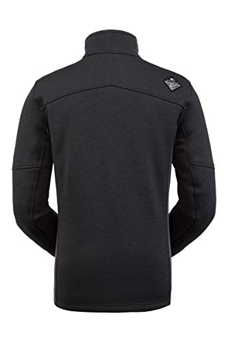 Spyder Men's Wengen Encore Fleece Jacket – Full Zip Sweater, Large, Black