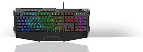 Sharkoon Skiller SGK4 Gaming Keyboard RGB, N-Key-Rollover, (US Tastaturlayout), Schwarz