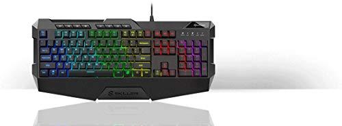 Sharkoon Skiller SGK4 Gaming Keyboard RGB, N-Key-Rollover, (US Tastaturlayout), Schwarz