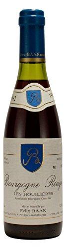 Bourgogne Rouge Les Houilières 1992 - Roter Burgunder Wein aus Frankreich - Besondere Weinrarität zum Geburtstag, Jubiläum, Jahrestag, Hochzeitstag (375ml Flasche)