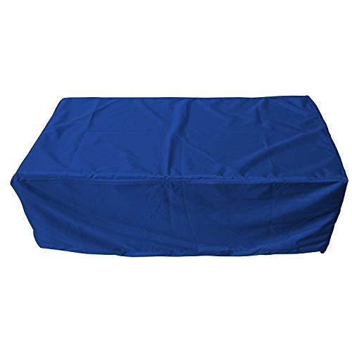byufya Gartentisch Abdeckplane mit Kordelseil Premium WASSERDICHT Schutzhülle Garten Möbel Rattan Abdeckung Plane Garnitur Haube Hülle (ca.160x110x75cm, Blau)
