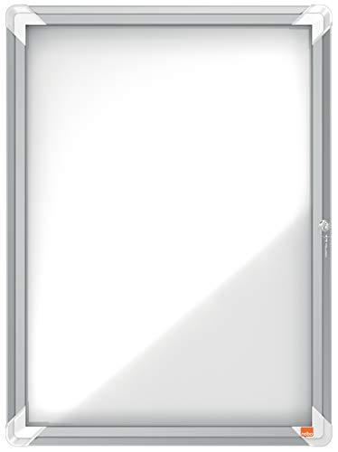 Nobo Vitrina Magnética para Exteriores con Cerradura para 4 Hojas A4, Premium Plus, Blanco, 1902577