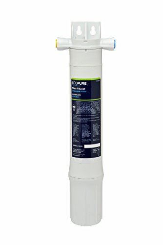 EcoPure Main Faucet Under Sink Inline Water Filtration System (EPWUFF1) | NSF Certified | Reduces Chlorine, Sediment & Cysts | No Additional Faucet Required