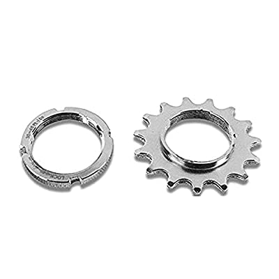 catazer 13T/14T/15T/16T/17T/18T Fixed Gear One Speed Bicycle Wheel Cogs Sprocket & Lockring for Fixie Track Bike Hub (16T Set)