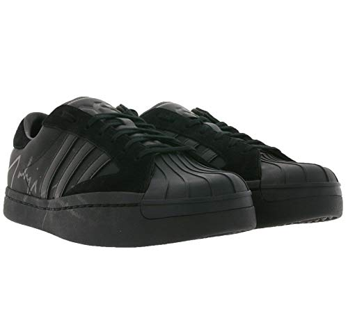 Y-3 Star schwarzer Leder-Sneaker mit Yohji Yamamoto Signature, (mehrfarbig), 42 EU