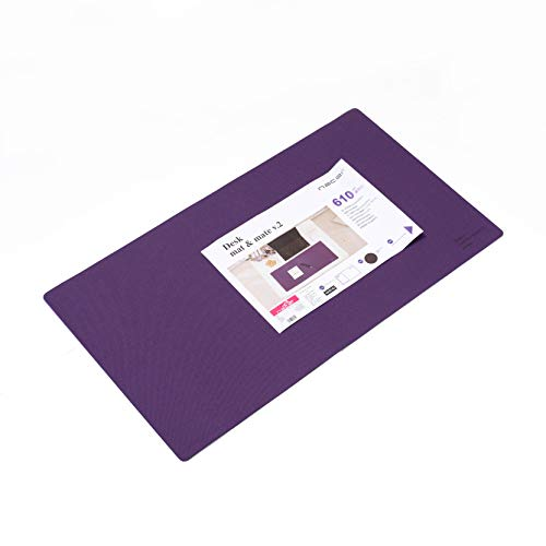Extended Gaming Mouse Pad Extra Large Size Desk Keyboard Mat Non Slip Waterproof 【24L 13.5W in】 (Purple)