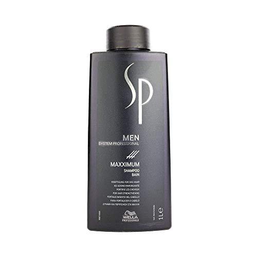 Wella System Professional Shampoo Men Maxximum, Uomo, 1000 ml