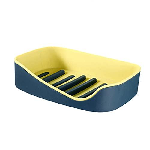 LYZL Estanteria Baño Ducha Caja De Jabón De Baño Diseño Curvo De Doble Capa Extraíble Y Fácil De Limpiar Adecuado para Sala De Estar Dormitorio Baño(Un Par),Amarillo