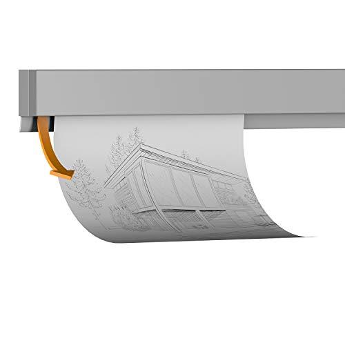 hang-it Klemmleiste Klemmschiene aus Aluminium - 200 cm - zur Präsentation von Fotos, Bildern, Postkarten