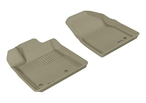 3D MAXpider Allwetter-Fußmatten für Honda Pilot 2009-2015 passgenau Auto-Fußmatten Kagu Serie (1. Reihe, Tan)