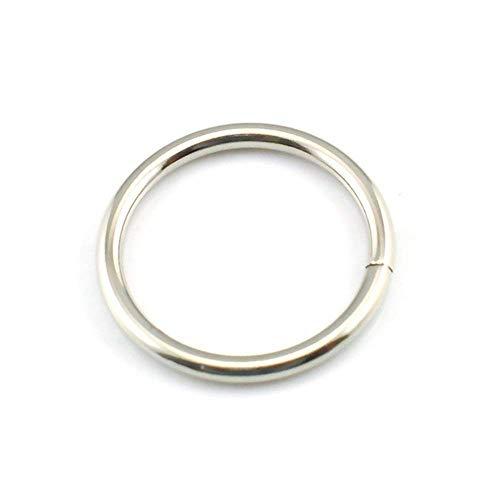 Trimming Shop Silber-O-Ringe aus Edelstahl für Haustierhalsband, Rucksack, Taschen, Rucksack, Taschen, Seil, Geschirr Antik Schmuck, Schlüsselanhänger, Outdoor Gurt, 25 mm, 20pcs