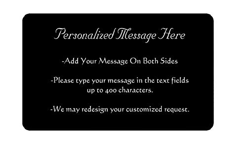 Personalized Message Engraved on Both Sides Metal Wallet Card - Anniversary Gifts for Men and Woman,...