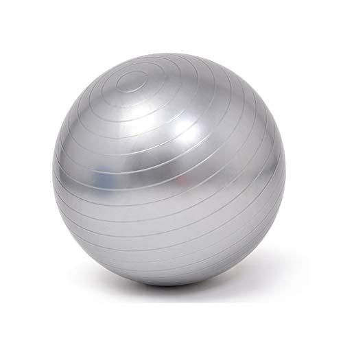 HSJ WDX- Bola de Yoga Bola de Fitness Engrosada a Prueba de explosiones pérdida de Peso Equilibrio niño Embarazada Parto partera Bola Peso Suelto (Color : Gray, Size : 55cm)