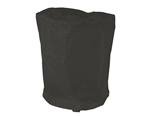 Hillfield Grillabdeckung rund oder eckig Abdeckhaube runde oder eckige Grills/Bistrotische (Schwarz, 70 x 90 cm RUND)