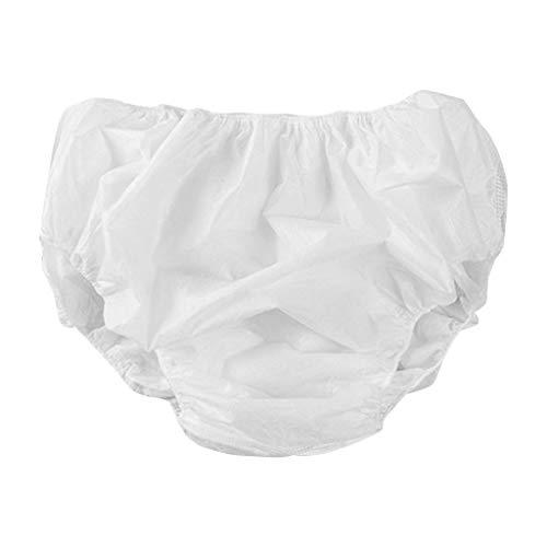 ZZXIAN 4er Pack Einweg Unterhosen Damen aus Baumwolle- Einmal Unterwäsche Einmalunterhosen Einwegslips Einwegunterwäsche für Krankenhaus Mutterschaft (One Size)