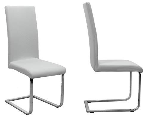 BEAUTEX 2er Set Jersey Stuhlhusse (Farbe wählbar), elastische Uni Stretch-Husse aus Baumwolle Bi-Elastisch (Hellgrau)