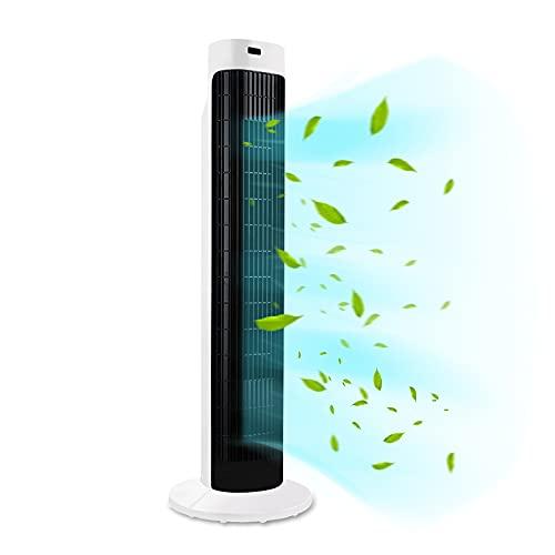 HENGMEI Tornfläkt med fjärrkontroll 70° oscilation stående fläkt pelarfläkt 45 W tornfläkt med 3 hastighetsinställningar, timer