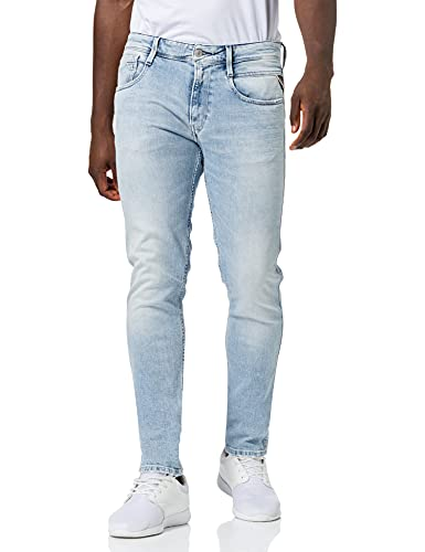 REPLAY Anbass Jeans, 011 Superlight Blue, 36W x 32L Uomo