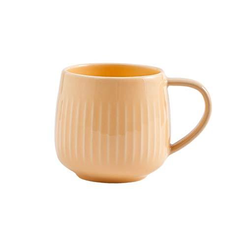 Tazón De Sopa De Arroz Para El Hogar Retro Plato Plato Ensalada De Frutas Taza De Café Taza De Cerámica Juego De Vajilla De Uso Diario, Taza Amarilla De 4.7 Pulgadas