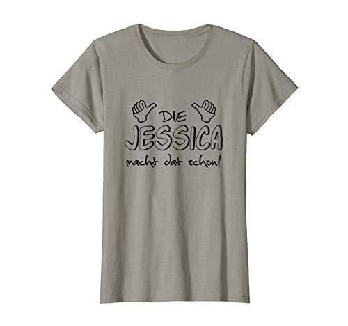 Damen Die Jessica macht dat schon! Lustiger Spruch im Ruhrpott T-Shirt