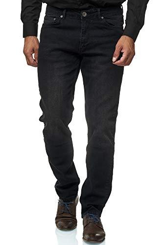 JEEL Herren-Jeans - Regular Fit Straight Cut - Stretch - Jeans-Hose Basic Washed 06-schwarz 40W / 32L