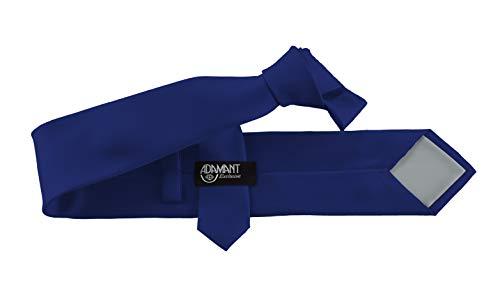 ADAMANT ADAMANT Herren Krawatte Klassische Form Royalblau 7cm Breit