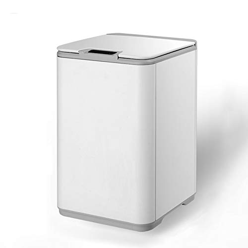 Withou Waterproof Smart Sensor Trash Can 7L/10L with Cover, Bathroom Touchless Trash Can, Pearl White, Automatic Sensor Lid, Home or Office,Suitable for family, kitchen (Size : 10L)