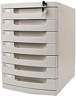 KANJJ-YU Tiroir de bureau Sorter 6 couches verrouillables Bureau de stockage des données confidentialité Tiroir PC de bure...