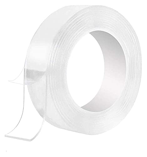 16.5 Pies Cinta De Doble Cara Nano Cinta Transparente Lavable Reutilizable Adhesivo Multiusible