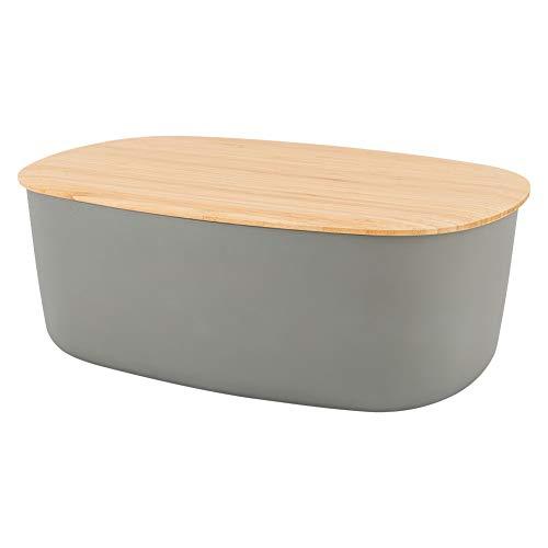 [ ステルトン ] Stelton リグティグ RIG-TIG ブレッド ボックス 6.8L Bread Box Z00038-3 グレー Warm Grey ブレッドケース キッチン 保存容器 収納 パン カッティングボード [並行輸入品]