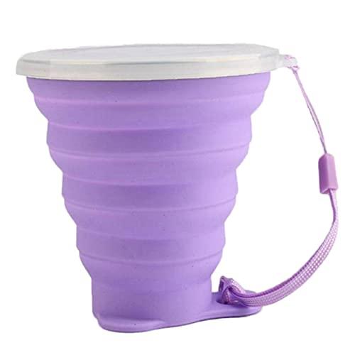 N\C Taza de Viaje de 270 M L de Acero Inoxidable de Silicona retráctil Tazas Plegables telescópicas Tazas de café para Deportes al Aire Libre Taza de Agua