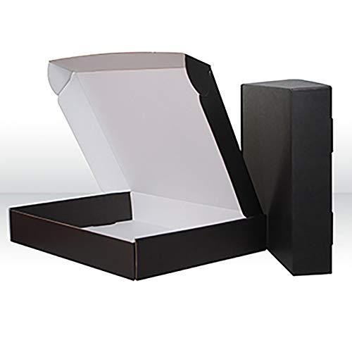 YI-LIGHT Cartones, Cuadros de envío de 14x10x2 Pulgadas Conjunto de 10, Caja de Correo de la Literatura de cartón Corrugado Negro, Caja de mensajería de Cajas de Embalaje Grande (Size : 8' x 6' x 2')