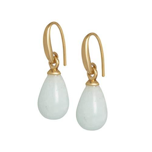 SENCE Copenhagen Earrings Ohrringe Essentials Aquamarine Matt Gold A518