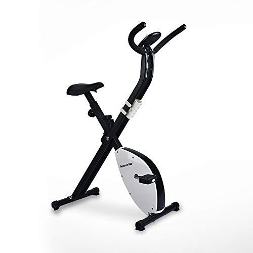 LYzpf Indoor Heimtrainer Fahrrad Stationäre Fahrräder Fitness Bikes Schwungrad Sportgeräte Trainingsgerät Fitnessgeräte Geräte für Zuhause Muskelaufbau Gewichtsverlust,White