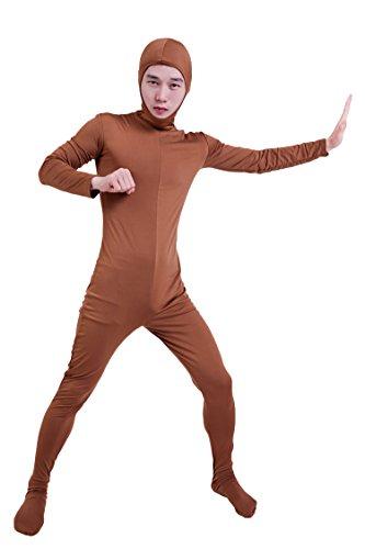 『コスチューム 全身タイツ 茶色 レディース Sサイズ 顔部分があいている 着ぐるみ (SS03-2H)』の6枚目の画像