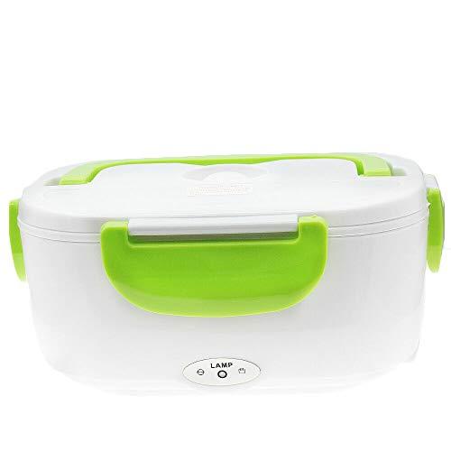 Green electric heated us plug heating lunch box bento travel food warmer 110v plastic