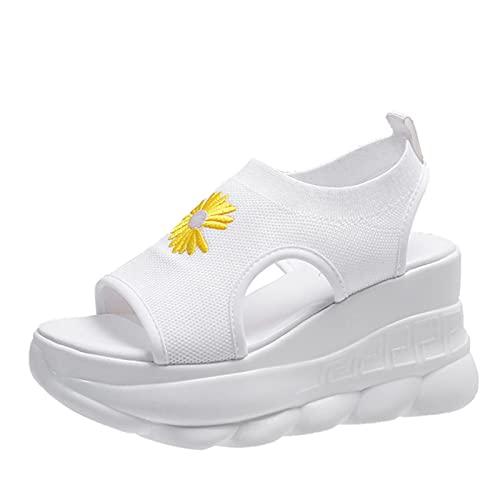 Sandalias Zuecos con tacón Zapatos Negros a Juego para Mujer Alpargatas...
