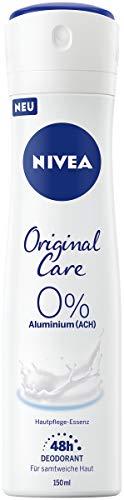 NIVEA Original Care Deo Spray (150 ml), Deo mit Hautpflege-Essenz und mildem Duft, Deo für 48h zuverlässigen Deo-Schutz