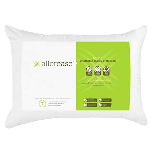 Aller-Ease Allergy Cotton Pillow, 1 Count (Pack of 1), White
