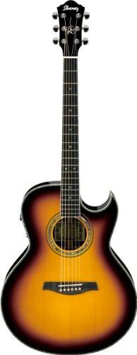 IBANEZ JSA20 VB Vintage Sunburst - Guitarra electroacústica (incluye estuche)