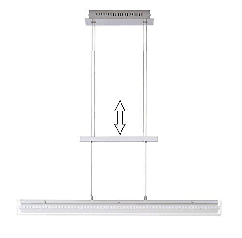 Trango Design LED Pendelleuchte, Esstischleuchte höhenverstellbar in Chrom TG4338-018