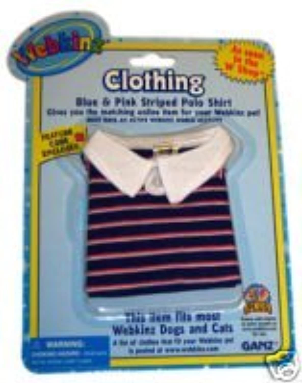 Webkinz Clothes  blueee and Pink Striped Polo by Webkinz