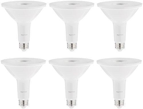 AmazonBasics 90 Watt Equivalent, Warm White, Non-Dimmable, PAR38 LED Light Bulb | 2-Pack