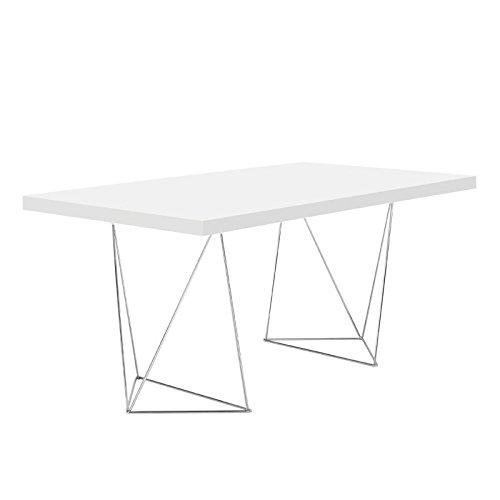 Paris Prix - Temahome - Bureau Multi 160cm Blanc Mat