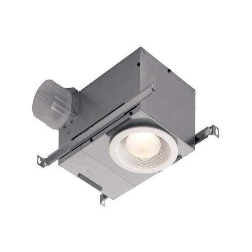 bathroom fan light combos Broan-NuTone 744 Recessed Light Combo for Bathroom and Home Bath Fan, 70 CFM, White