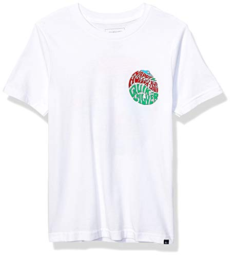 Quiksilver Jungen Happy Hollow Days Youth Tee Hemd, weiß, XL