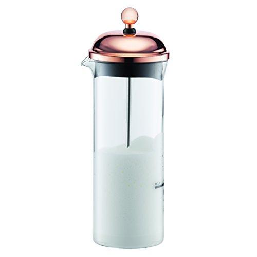 Bodum CHAMBORD Milchschäumer (Manuelles Aufschäumen, 0,15 liters) kupfer, Rich Copper