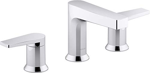 Kohler K-97100-4-CP Taut Bathroom Sink Faucets, Widespread, Polished Chrome