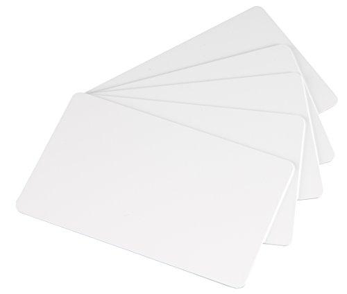 Novo 100 Blanko-Plastikkarten,  weiß